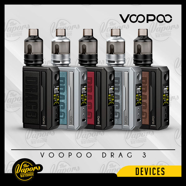 VOOPOO DRAG 3 177W STARTER KIT Classic,Sandy Brown,Prussian Blue,Smoky Grey,Marsala