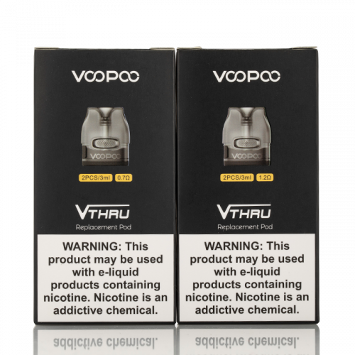 VOOPOO V.THRU PRO REPLACEMENT PODS 0.7ohm Mesh Coil - Integrated,1.2ohm Spiral Coil - Integrated