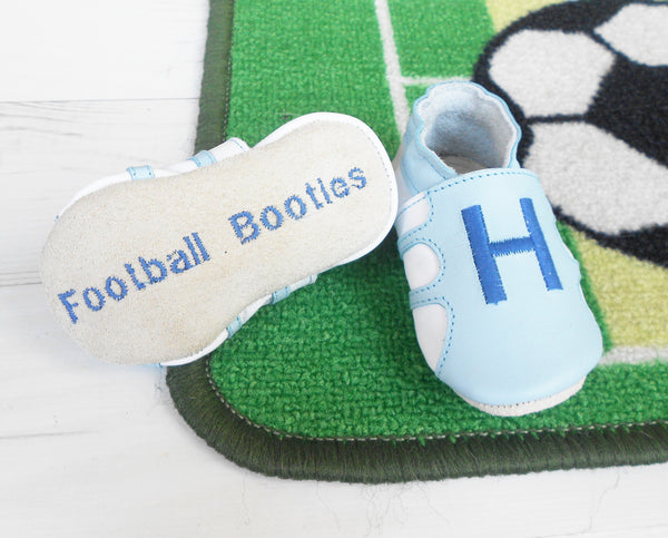 boys baby shoes - personalised baby boys gift - baby football boots