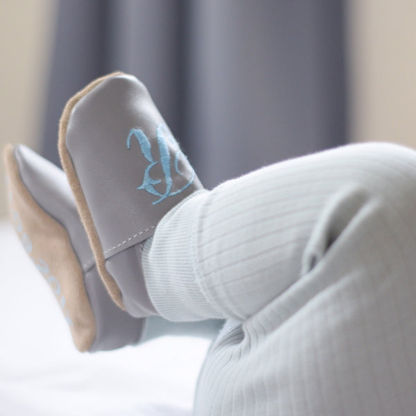 Personalised Baby Shoes with Initial - Born Bespoke