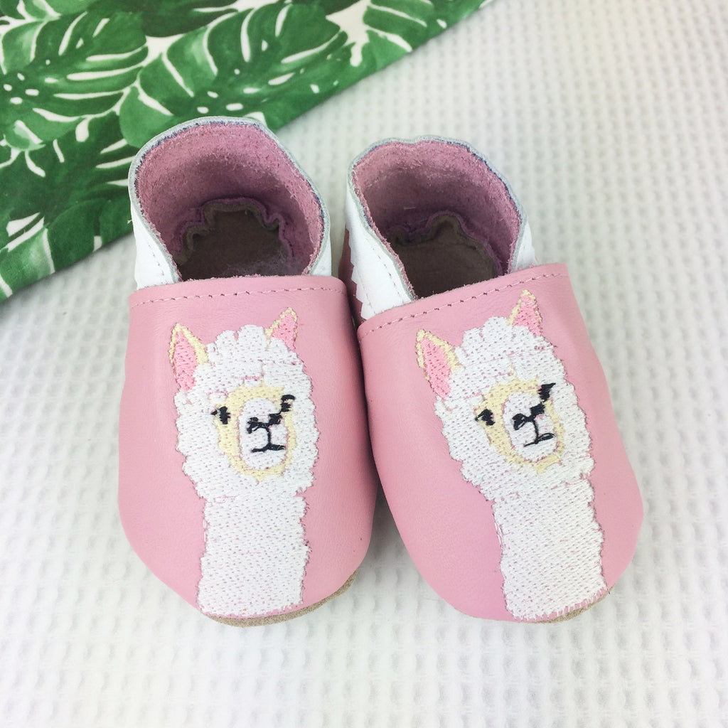 Pink Alpaca Leather Baby Shoes by Born Bespoke - Born Bespoke