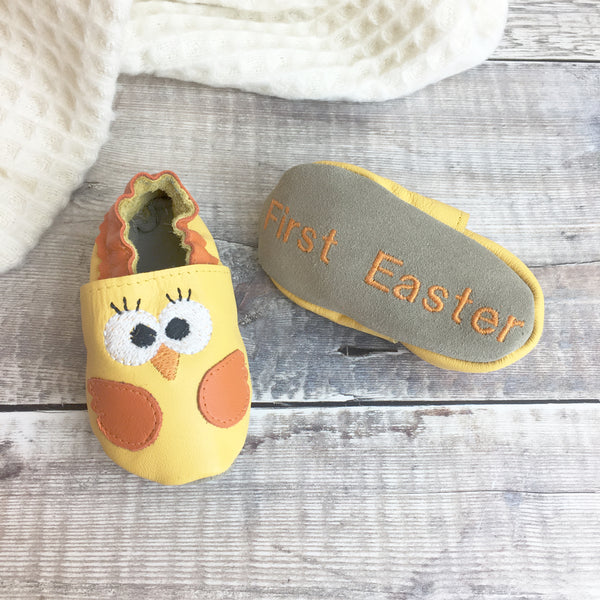 Personalied Chick Baby Shoes - Born Bespoke