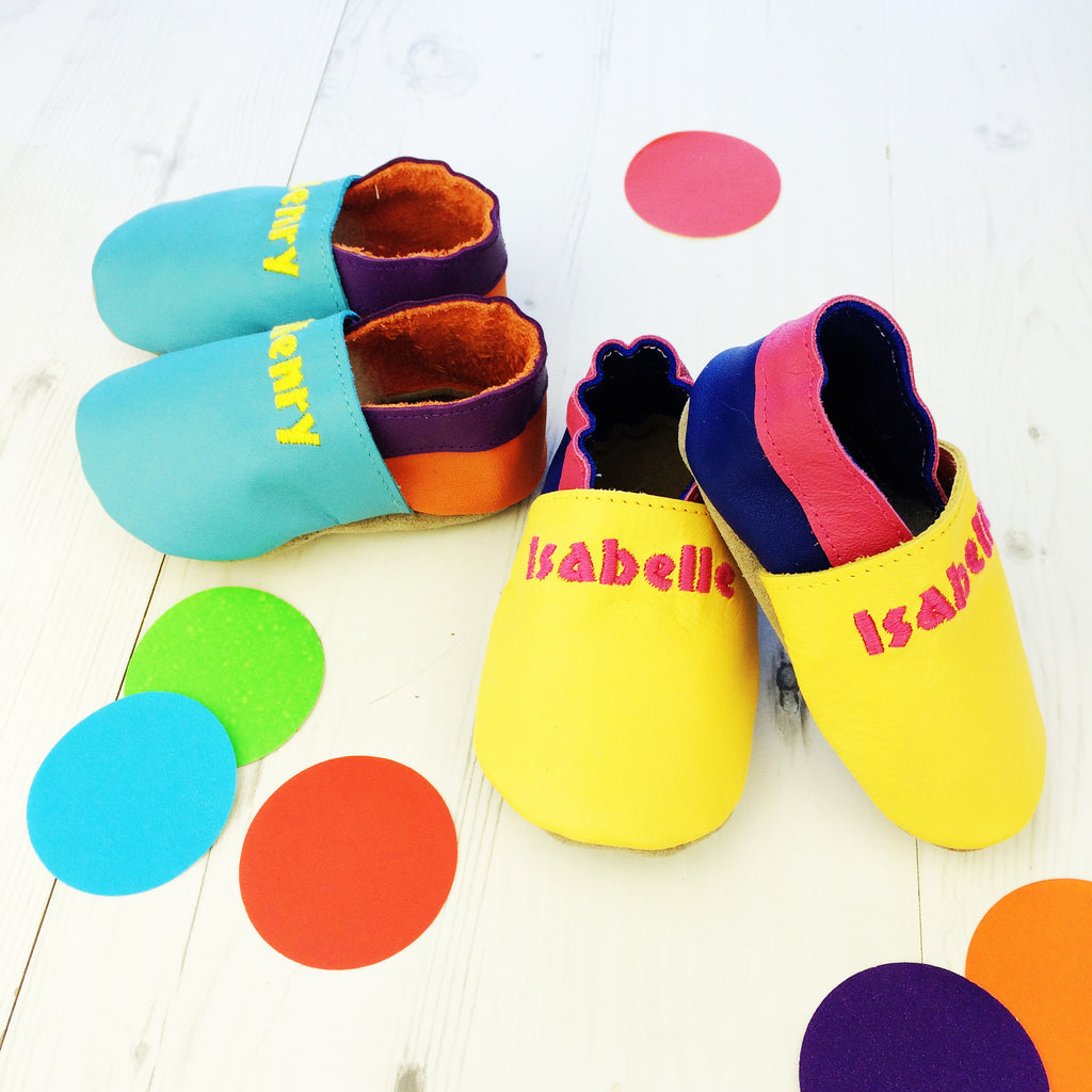 Mix 'n' Match Colour Pop Baby Shoes - Born Bespoke
