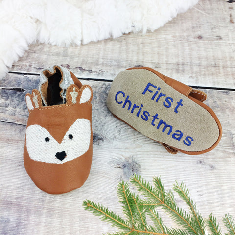 Deer Fawn Leather Baby Shoes by Born Bespoke