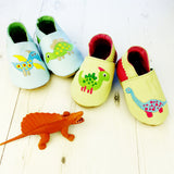 Dinosaur Leather Baby Shoes for Boys or Girls by Born Bespoke - Born Bespoke