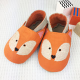 Embroidered Fox Leather Baby Shoes by Born Bespoke - Born Bespoke