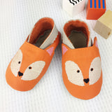 Personalised Fox Baby Shoes Gift Set - Born Bespoke