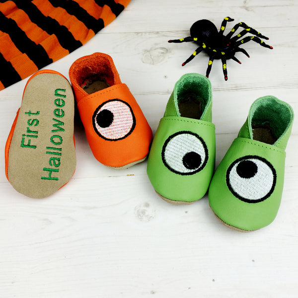 Googly Eye Halloween Baby Shoes - Born Bespoke