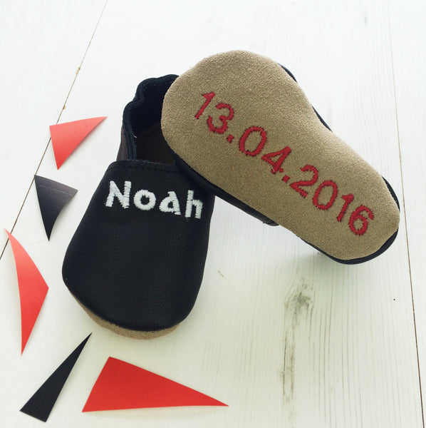 Personalised Unisex Baby Shoes - Born Bespoke