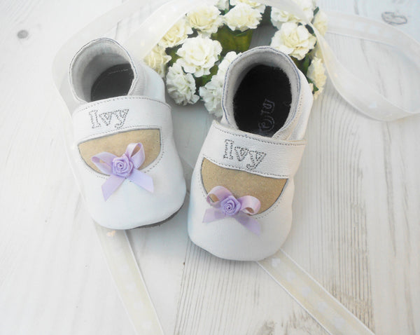 Personalised Girls Mary Jane Christening Shoes - Born Bespoke