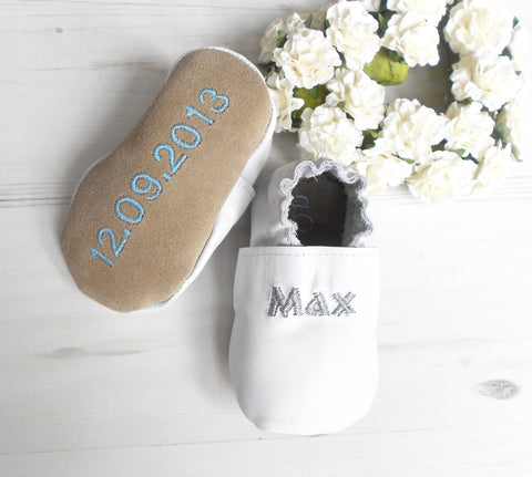 Personalised Christening Baby Shoes
