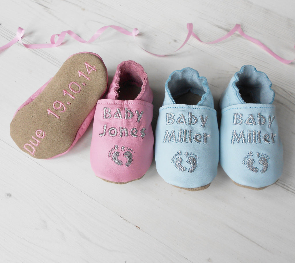 Baby Shower Gift or Pregnancy Announcement Baby Shoes by Born Bespoke - Born Bespoke