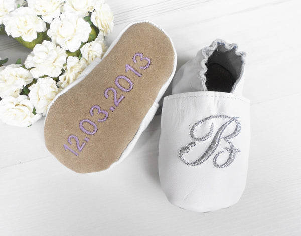 Personalised Christening Shoes with Initial - Born Bespoke