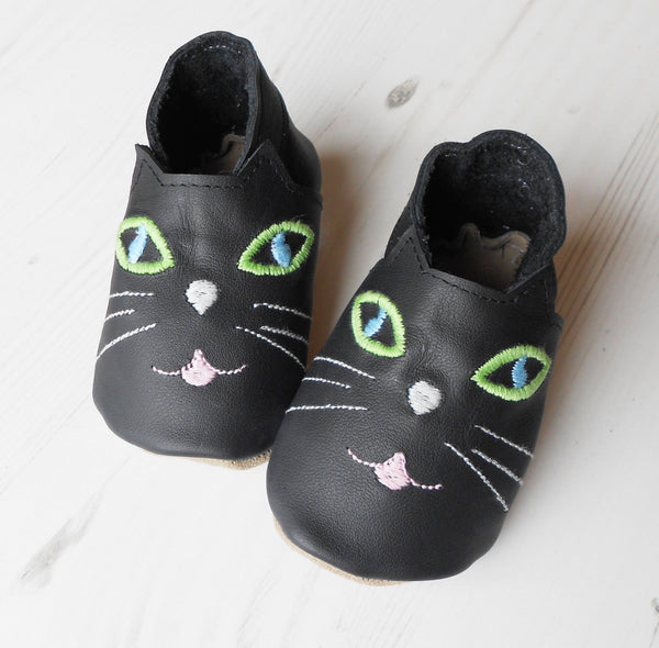 Personalised Cat Baby Shoes - Born Bespoke