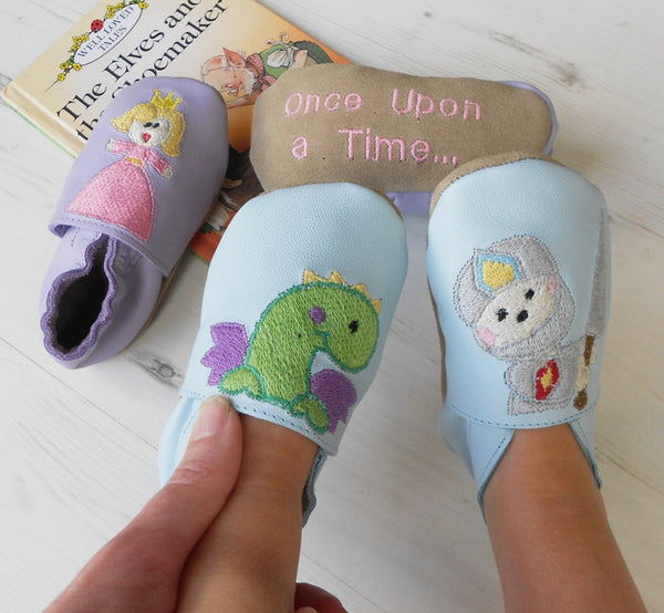 Personalised Story Telling Baby Shoes - Born Bespoke
