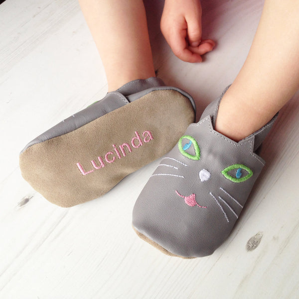 Personalised Cat Slippers for Children - Born Bespoke