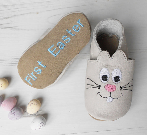 Personalised Bunny Baby Shoes - Born Bespoke