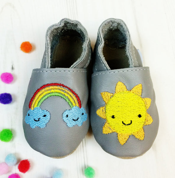 Personalised Weather Baby Shoes - Born Bespoke