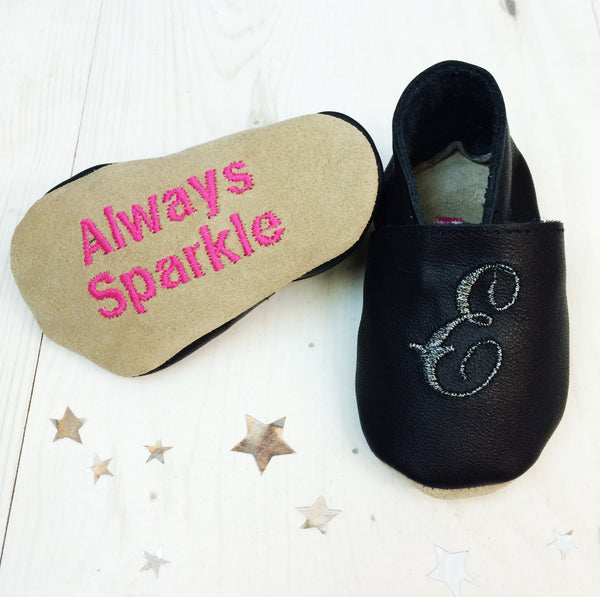 Personalised Sparkly Baby Party Shoes - Born Bespoke