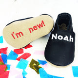 Personalised Unisex New Baby Shoes - Born Bespoke