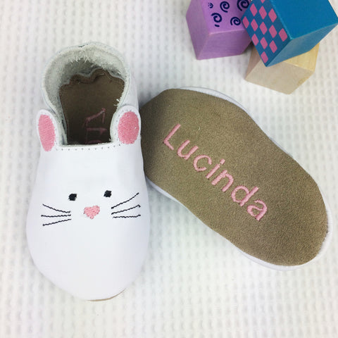 Mouse Leather Baby Shoes