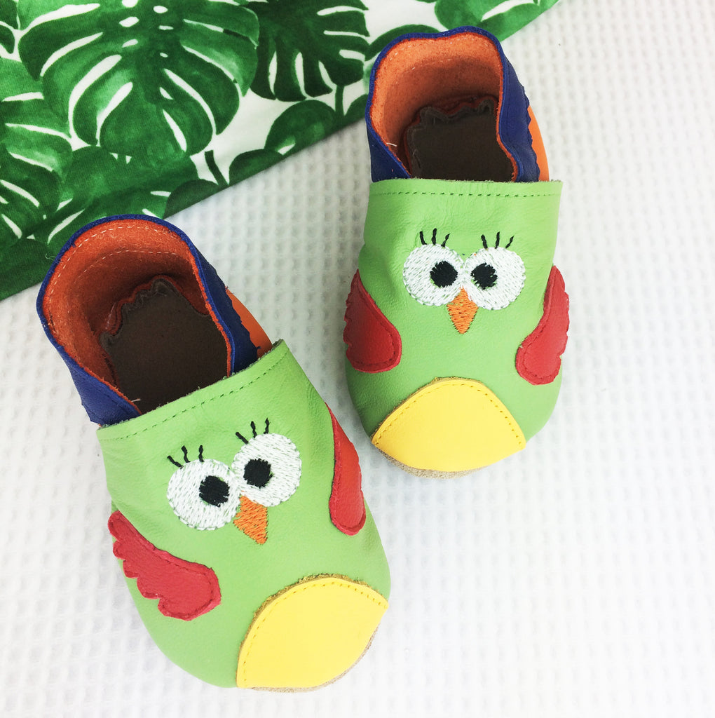 Parrot Leather Baby Shoes by Born Bespoke - Born Bespoke