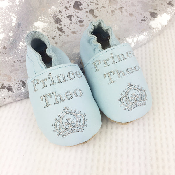 Personalised Prince Baby Shoes - Born Bespoke