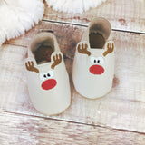 Personalised Rudolph Christmas Baby Shoes - Born Bespoke