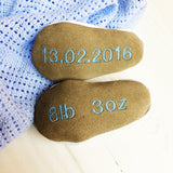 Personalised Embroidered Bee Baby Shoes - Born Bespoke