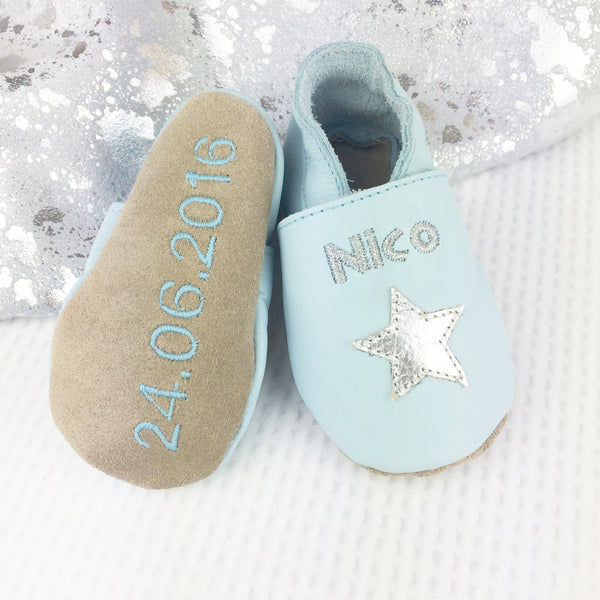 Personalised Star Baby Shoes - Born Bespoke