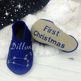 Personalised Constellation Baby Shoes - Born Bespoke