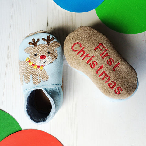First Christmas Character Baby Shoes