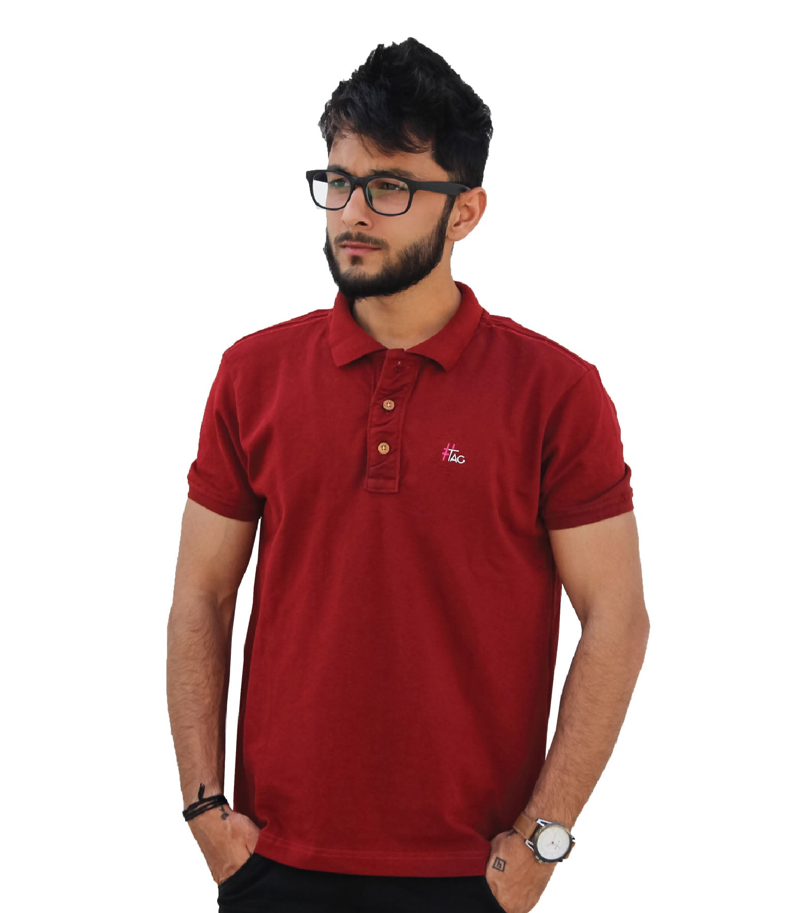 22fb1d79 ... T-shirt with Pocket · Hashtag Cotton Polo Tshirts for Men ...