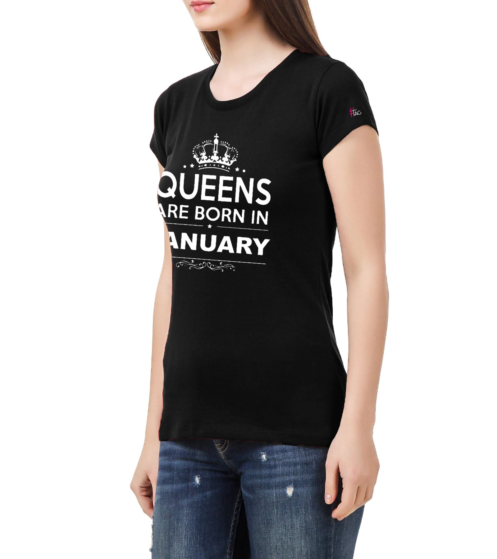 aad47dfa890 Birthday Queen 1.0 - Crewneck T-shirt- Queens are Born in January