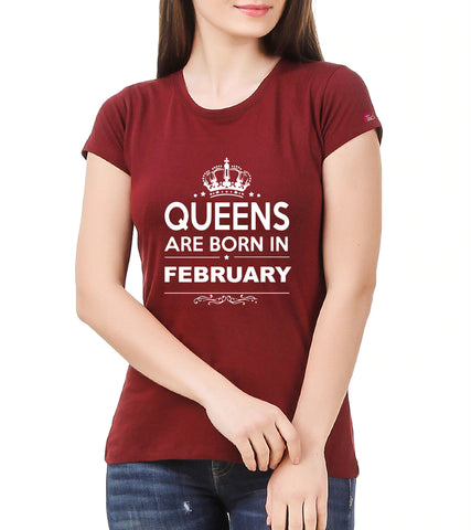 2801f705bbd Birthday 2.0 - Queens are born in February Crewneck T-shirt