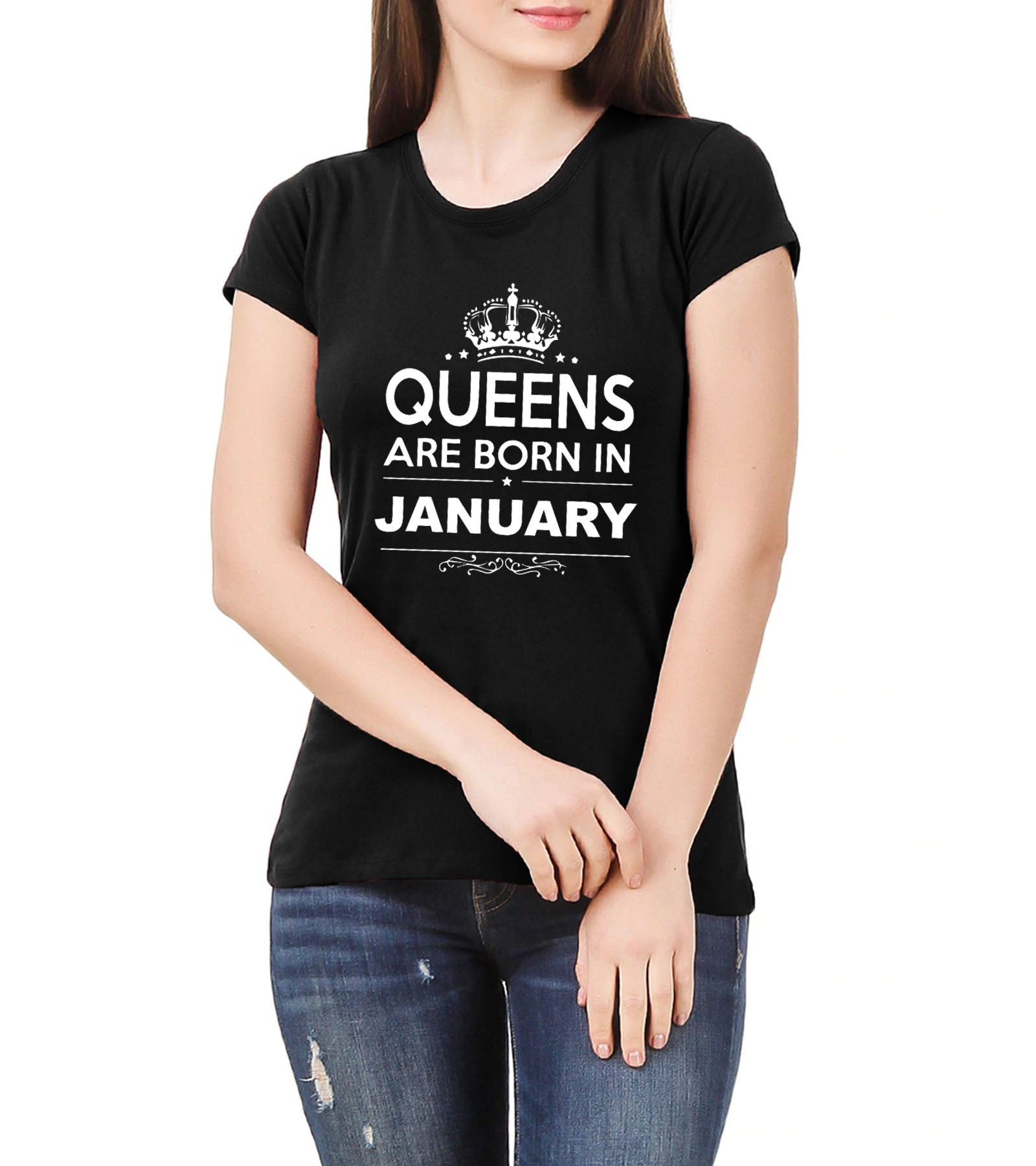 b4a3c32b2 Birthday Queen born in january women's T-shirt