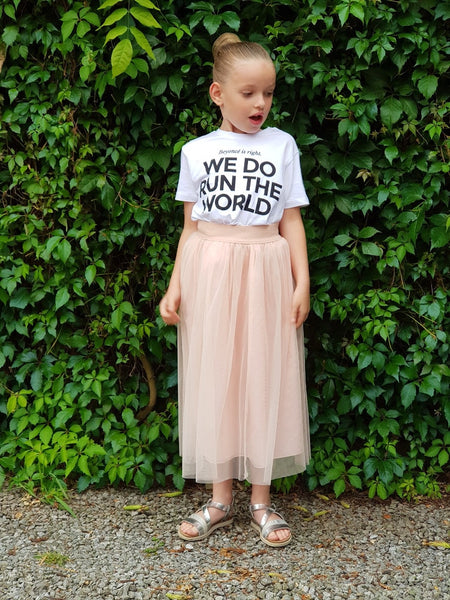 We Do Run The World Kids T-shirt