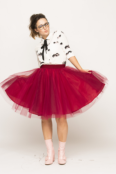Over-knee Cherry Red Tutu