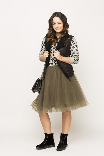 Over-knee Khaki Tutu