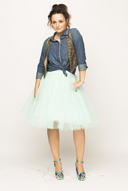 Over-knee Mint Tutu