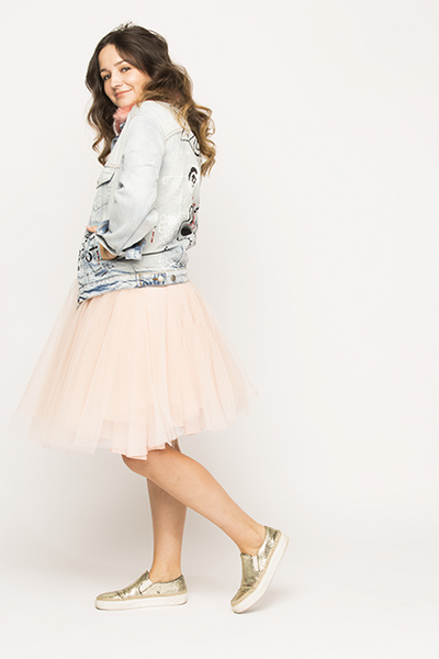 Over-knee Powder Blush Tutu