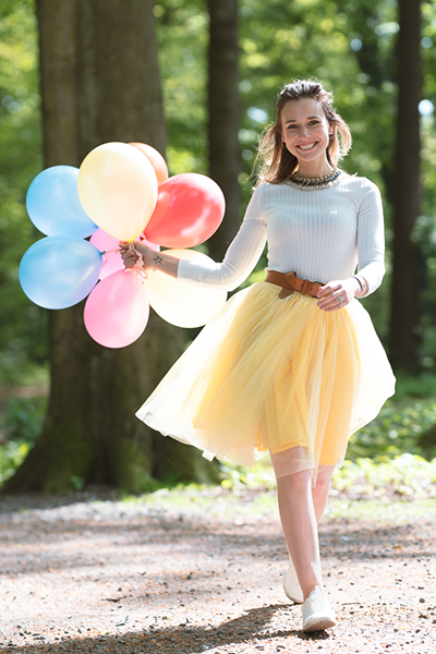 Over-Knee Yellow Tutu
