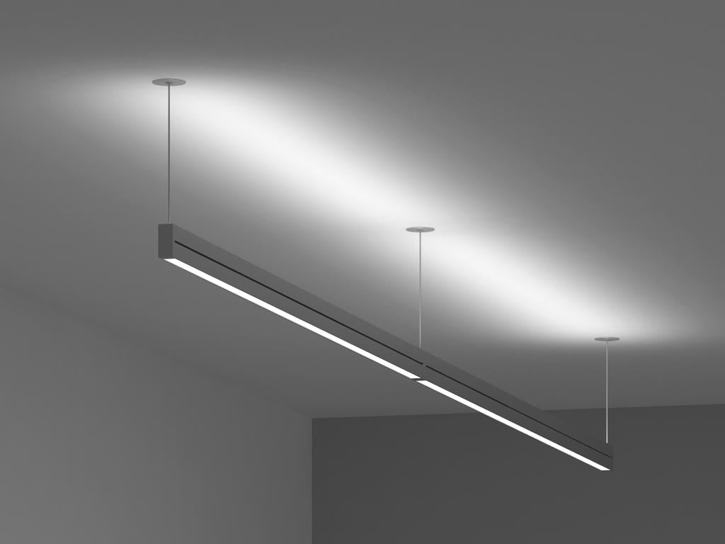 60w72w84w suspended led linear direct indirect pendant. Black Bedroom Furniture Sets. Home Design Ideas