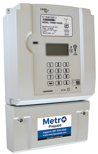 3PH 100A PER PHASE PRE PAID METER