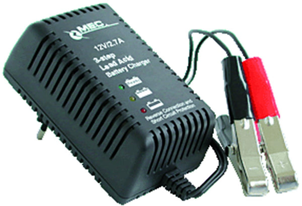 2.7A 6/12V 3 STEP BATTERY CHARGER 100-240VAC