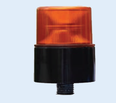 10-80VDC LED M.F.BEACON,24x0.2W,AMBER,M22 THREAD