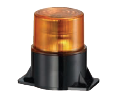 10-80VDC, 4.8W, AMBER,LED BEACON, SINGLE FLASH,M22 BASE MOUN