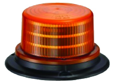 10-30VDC LED MULTI FLASH BEACON, 24x0.2W,AMBER,BASE MOUNT