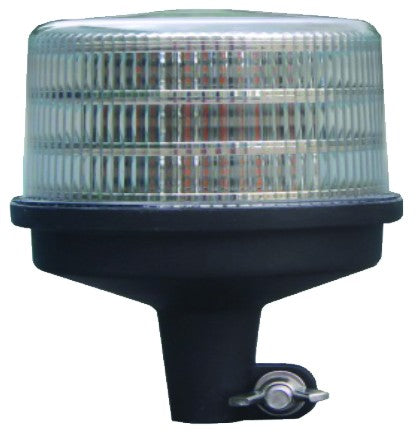 10-30VDC LED M.F.BEACON,36x0.5W,AMBER,POLE/PIPE MOUNT