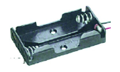 BATTERY HOLDER/OPEN/2 POLE AA / 150MM TAILS